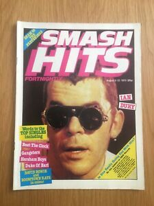SMASH-HITS-August-79-Rare-Issue-No-18-Ian-Dury-David-Bowie-Boomtown-Rats-VGC
