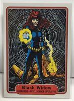 Black Widow 2015 UD Marvel Fleer Retro - Throwback 1982 Fleer Rare Insert #14