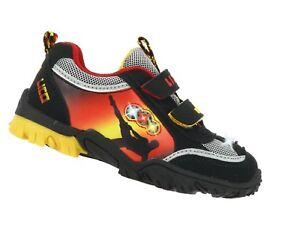 b570701f6a7fea Das Bild wird geladen Lico-Sneaker-Kinderschuhe-Blink-Licht-schwarz -Fussball-Groesse-