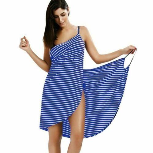 1 Pc Women Home Textile Towel Robes Bath Wearable Stripe Towel Dress Girls Fast