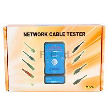 New Auto Mode And Manual Mode RJ45 RJ11 Network USB LAN Cable Tester Blue+Black