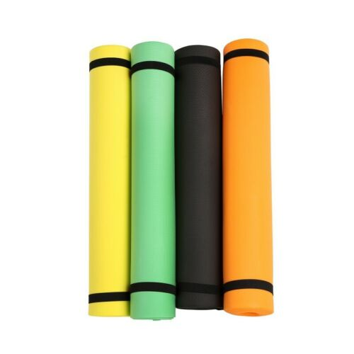 Thick Yoga Mat Exercise Fitness Pilates Camping Gym Non-Slip Meditation Pad 4mm