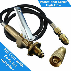 LPG-Filler-Decanting-Gun-amp-Hose-with-Fork-lift-Cylinder-adapter