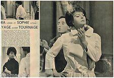 Coupure de presse Clipping 1961 (2 pages) Sophia Loren