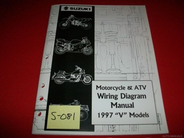 Suzuki Motorcycle  U0026 Atv Wiring Diagram Manual 1997  U0026quot V