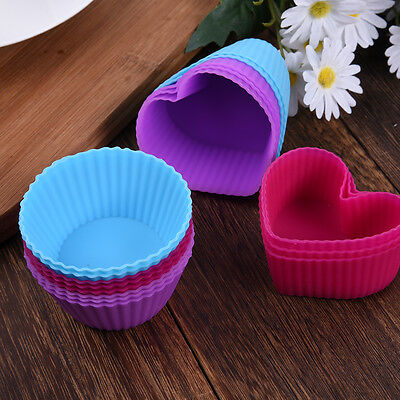 8pcs Silicone Cake Muffin Chocolate Cupcake Pan Mold Baking Cup Mould Bakeware