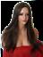 thumbnail 1 - Ladies Brown long poker straight Women Fashion Costume Natural Hair adult Wig O4