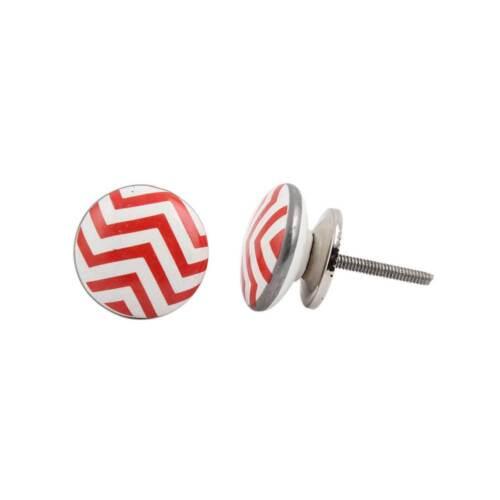 Ceramic Cabinet Door KnobsCupboard HandlesPink Red /& Orange Drawer Pulls