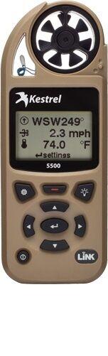 Kestrel 5500 Environmental & Weather Meter with LiNK & Wind Vane Mount - Tan