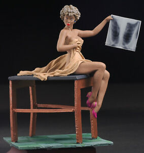 Pin-Up-X-Ray-Checking-Women-80mm-Painted-Tin-Toy-Soldiers-Andrea-Girls