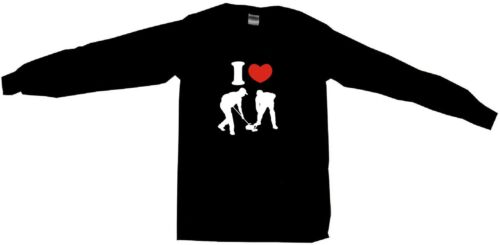 I Heart Love Curling Logo Mens Tee Shirt Pick Size Color Small-6XL