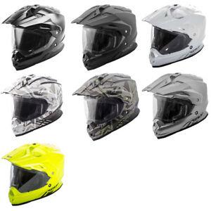Fly Racing Adult Matte Grey//Hi-Vis//Black Trekker Nova Dirt Bike Helmet ECE//DOT
