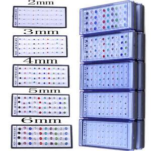 20-Paar-Strass-Ohrstecker-2-3-4-5-6mm-Damen-Kinder-Herren-TOP-Silber-Ohrringe