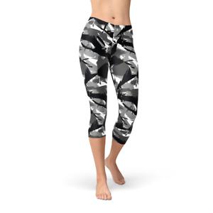 per Legging Leggings Camouflage Urban Printed Esercito Capri Military donna Camo fgOBgwnHq