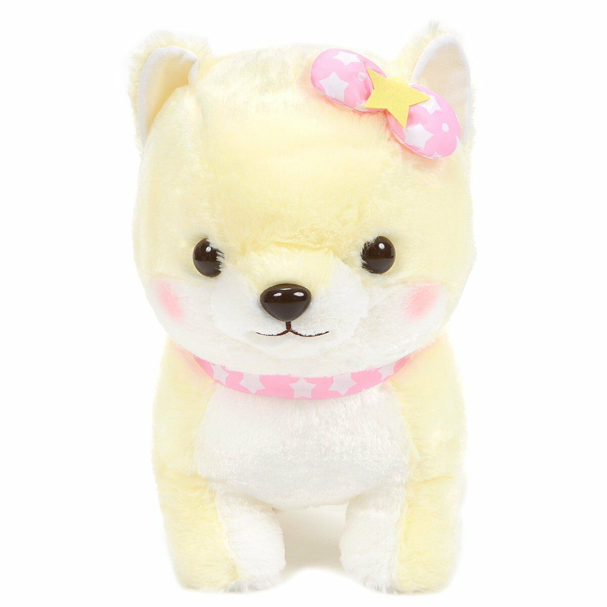 Amuse Plush Shiba Dog Pastel Gelb Kawaii Stuffed Animal 17 Inches BIG Größe