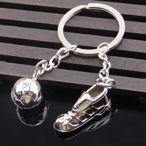 New 3D Cute Metal Ring Key Chain Keyfob Cool Soccer Shoe Lovely Keyrings 0SFBDC
