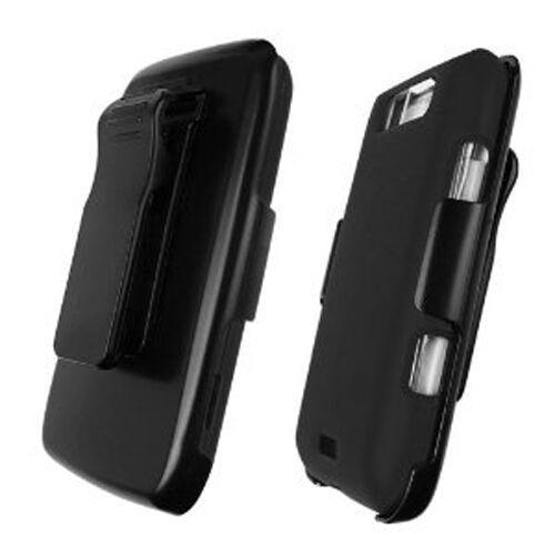 For LG Connect 4G COMBO Belt Clip Holster Case Cover DUAL Kick Stand Black