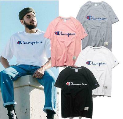 GüNstiger Verkauf 2019 Champion Herren Damen Kurzarm T-shirt Kurze Ärmel Kurzarm Tops Tee Gr.s-xxl Ungleiche Leistung