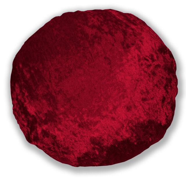 Mv23 Red Crushed Velvet Sofa Seat Patio Bench Box Cushion Bolster Cover//Runner