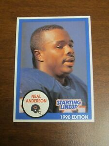 Neal Anderson 1990 Kenner Starting Lineup Card - Chicago Bears