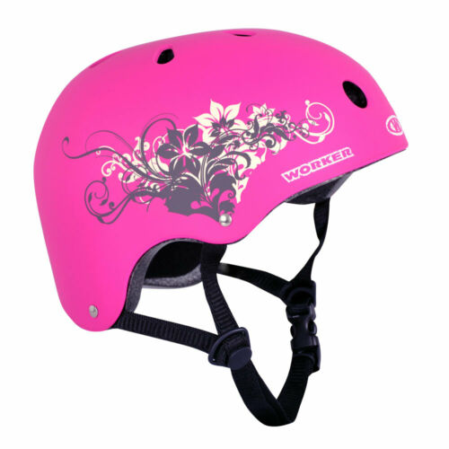 Skaterhelm Cutte Pink taille 52-55 55-58 cm Inlineskating Vélo Casque Fille Top