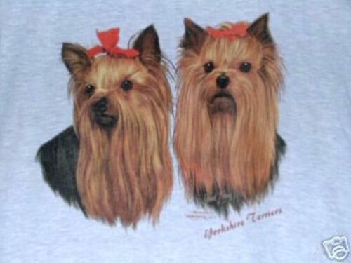 2 YORKIES SO NICE 50 50 blend Tee Shirt Sizes Small To 4XL Many colors available