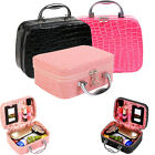 Large Beauty Make Up Nail Tech Cosmetic Box Jewellery Vanity Case Storage Bag#