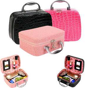 Large-Beauty-Make-Up-Nail-Tech-Cosmetic-Box-Jewellery-Vanity-Case-Storage-Bag