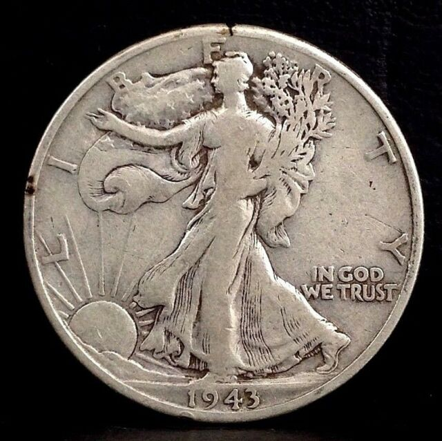 Lot of 3 Denver Mint Walking Liberty Half Dollars 1941-D 1942-D 1943-D Fine