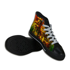 Reggae Rasta Canvas Mens Shoes Mens Canvas Rasta Reggae ITTvqfxn1