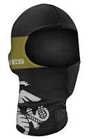 Marines Face Mask Nylon Ski Snowboard Motorcycle Neck Balaclava Black Gold Usmc