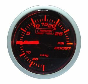 PROSPORT-52mm-Amber-Red-amp-Super-White-Led-Smoke-Electrical-Turbo-Boost-Gauge-PSI