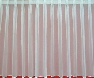 Das Bild Wird Geladen Gardine Weiss Bleibandabschluss Stores Sable Faltenband 1 2