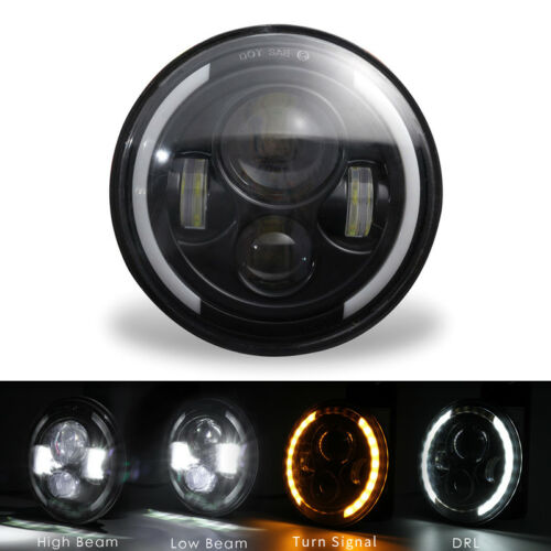 "1pcs  LED Haupt Scheinwerfer mit ANGEL EYE 7/"" Zoll Motorrad Headlight Lampe"
