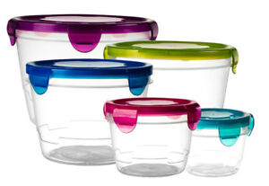 Reusable-Refrigerator-Containers-5-Freezer-amp-Microwavable-Plastic-Storage-Box