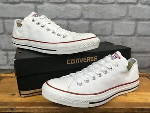 CONVERSE-ALL-STAR-LOW-WHITE-CANVAS-TRAINERS-VARIOUS-SIZES-CASUAL-MENS-LADIES