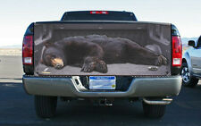 Giant Black Bear Open Truck Tailgate Wrap Vinyl Graphic Decal Sticker Wrap