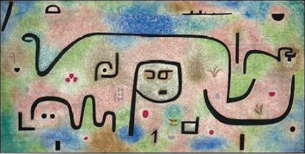 Paul Klee  Insula Dulcamara Keilrahmen-Bild Leinwand abstrakt Komposition