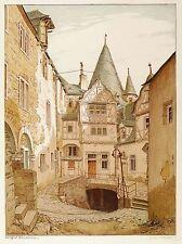 SANKT JOHANN BEI MAYEN - SCHLOSS BÜRRESHEIM I - Volkmann - Farblithografie 1902