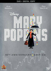 Mary Poppins (DVD, 2013, 50th Anniversary Edition) BRAND NEW FAST DISNEY