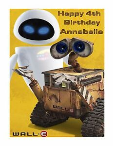 Image Is Loading Wall E And Eve Edible Cake Frosting