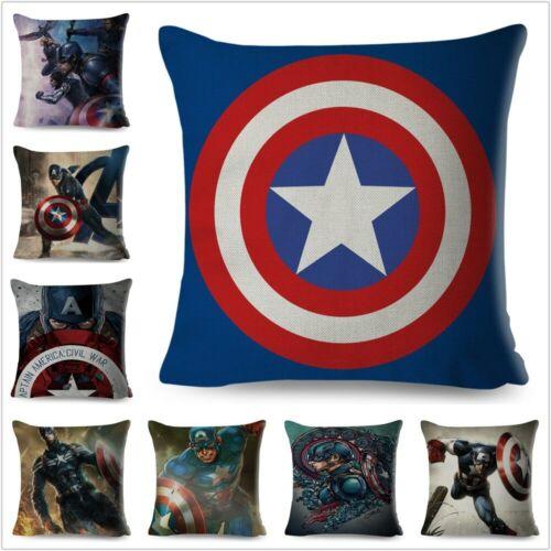 Avengers Captain America Pillow Super Hero Anime Cushion Cover for Sofa Decor