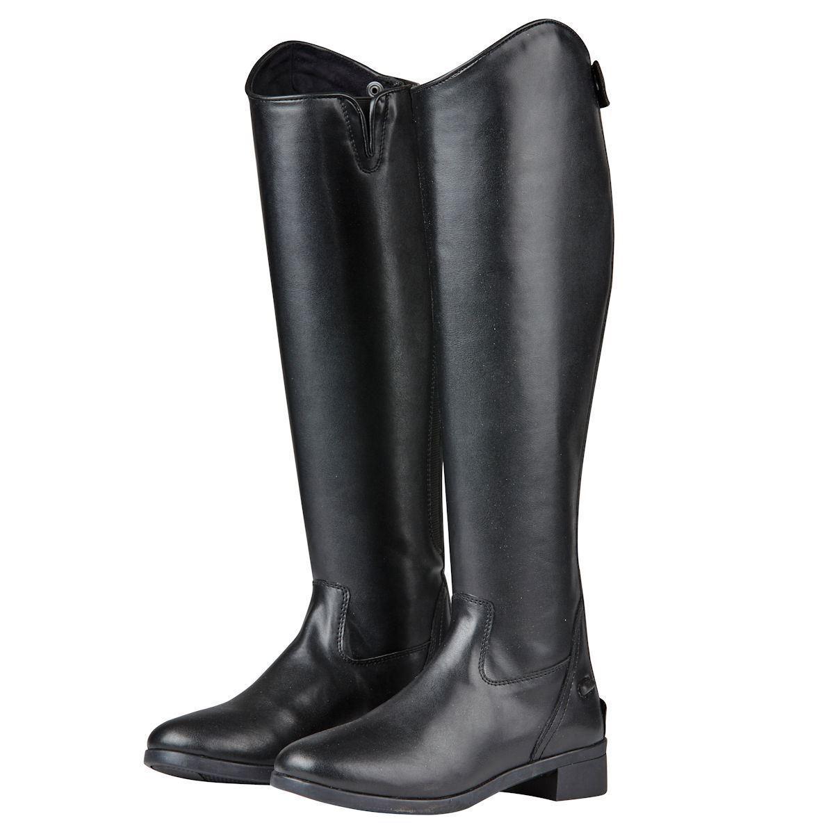 Saxon Syntovia Tall Dress Stiefel Leather Look YKK Zip