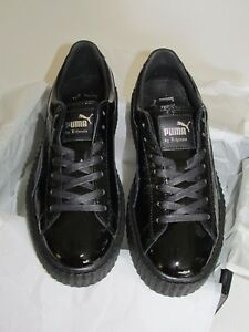 size 40 7c117 7c12a Details about Puma by rihanna creeper cracked leather women color: Black  size: 8.5