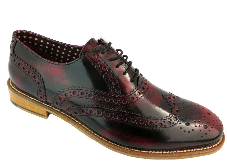 London Brogues Gatsby da uomo in pelle Scarpe ALL'INGLESE Formale FOLDABLE Scarpe classiche da uomo