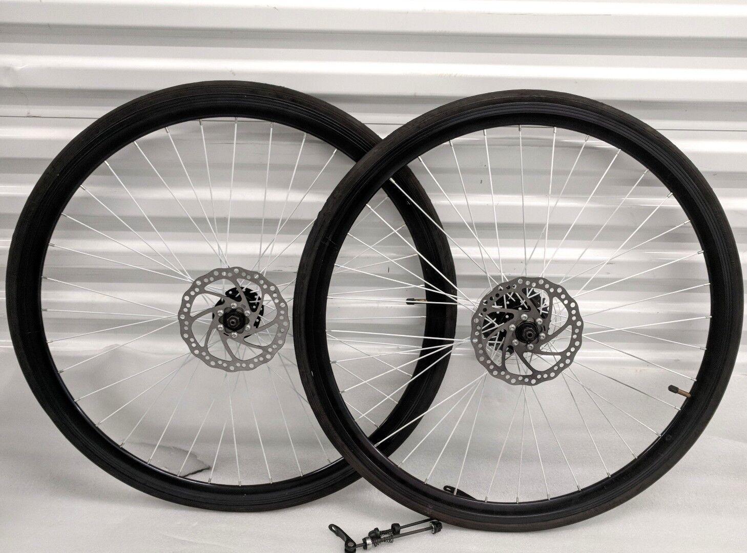 700c Bicicleta Carretera Ruedas con 7speed Cog ✓ Neumático Tubo ✓ Reflector ✓