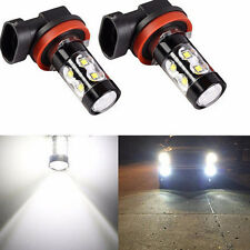 1X H11 Super Bright 50W White 6000K Projection LED DRL Fog Light Bulb