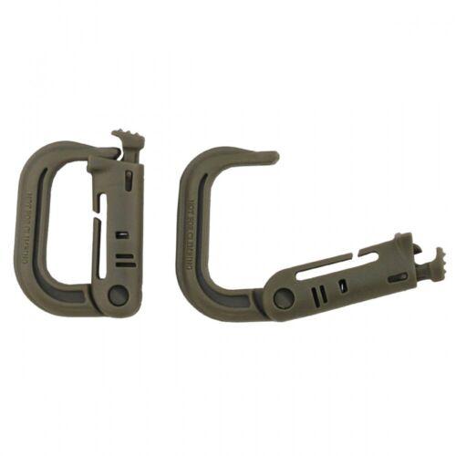 MFH Karabiner Plastik MOLLE 2er Pack Karabinerhaken Kunsstoff Clip Haken NEU