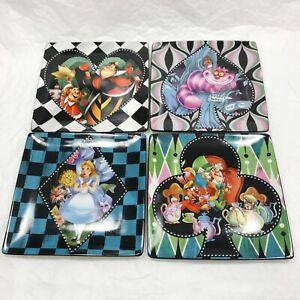 4-Pcs-Disney-Parks-Alice-In-Wonderland-Dessert-Plates-Cheshire-Mad-Hatter-Queen