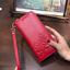 AOEO-Ladies-Embossing-Wallet-Female-With-Genuine-Leather-Wristlet-Card-amp-Id-Hold thumbnail 3